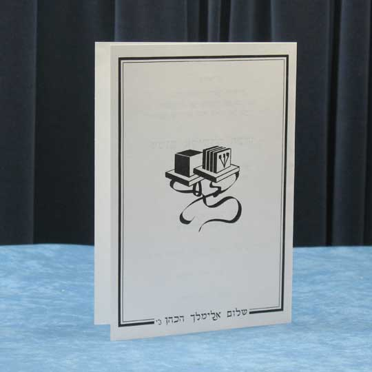 Jewish Hebrew English Bar Mitzvah Invitations - Tall Vellum Folder