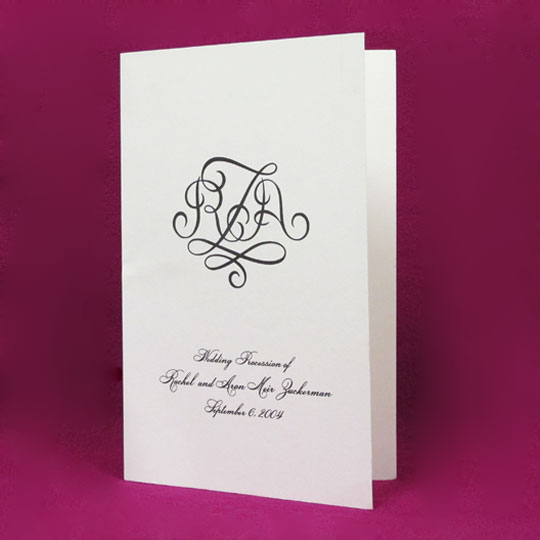Wove Wedding Program